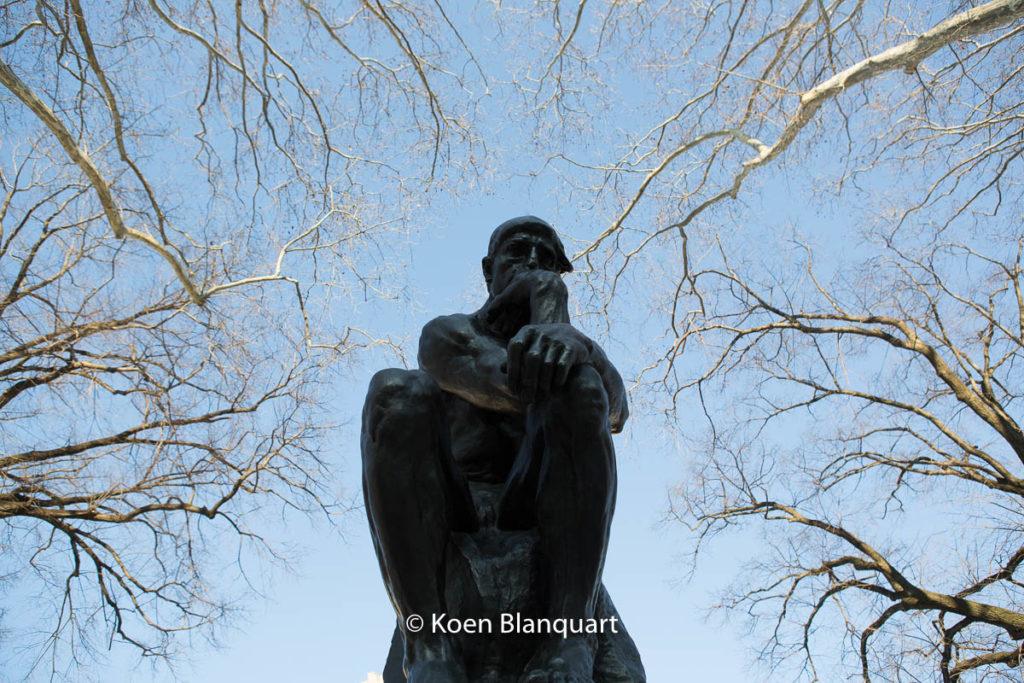 The thinker - Le penseur, by Auguste Rodin at the Rodin Museum in Philadelphia (image Koen Blanquart)