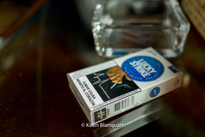 A pack of cigarettes for sale in my hotel room.