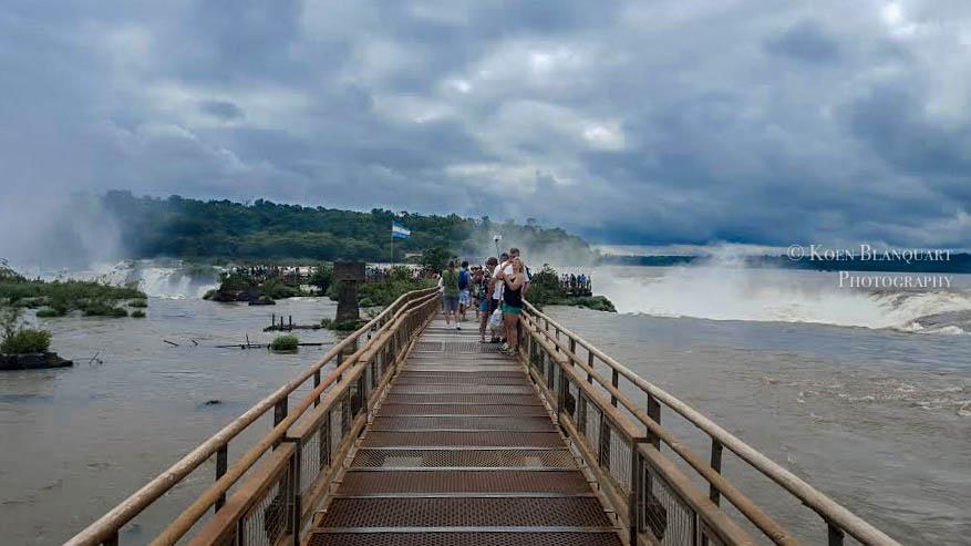 Iguazu Falls Walkway to the waterfalls