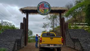 Entering Diamante Eco Park in Guanacaste, Costa Rica for a day of ziplining!