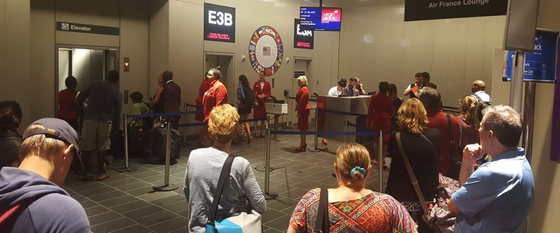 Boarding Process of Virgin Atlantic in Boston Airport
