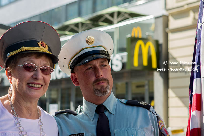 In Berlin, Have your picture taken at Checkpoint Charlie, in front of the McDonalds: you are entering the American sector.