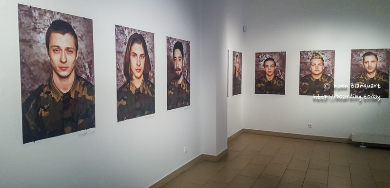 "Series of Portraits ""We won the lottery"" by Neringa Rekasiute and Beata Tiskevic - describing the draft in Lithuania and the possible war"