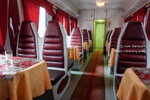 The Russian restaurant wagon on the Trans Siberian Railway