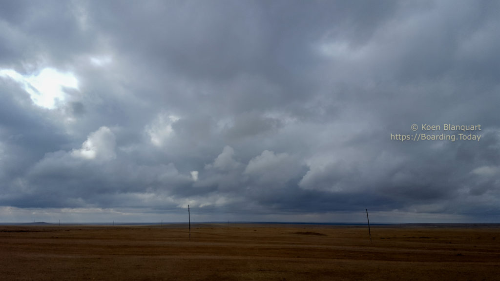 Mongolia under the clouds