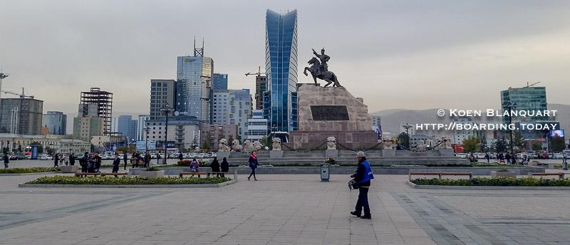 Chinggis Square, the main square of Ulan Bator (UB) - Visit Mongolia 2016