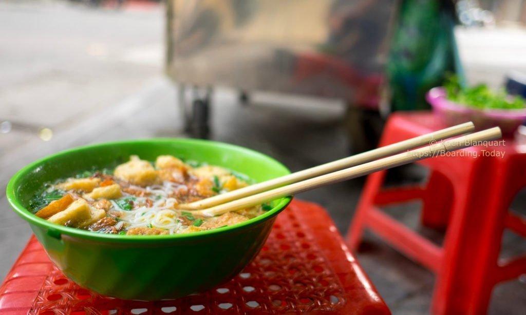 Noodle soup for breakfast in Vietnam