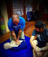 """During the IDC in Central America, we learned that not only teaching Scuba Diving, but learning how to teach and certify students as """"Emergency First Responder"""" is part of the training."""