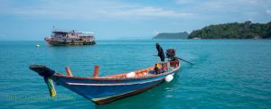 A boat in the gulf of Thailand
