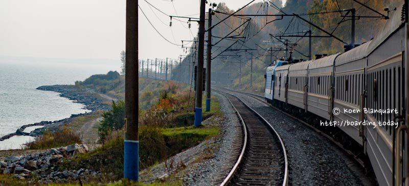 The trans siberian rail in Siberia