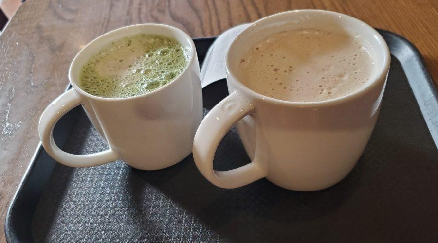 Coffee mugs in a Starbucks in Busan, South Korea
