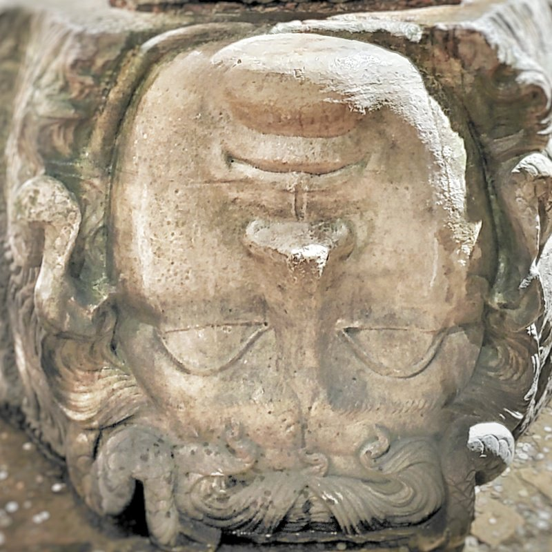 The Medusa head in the Basilica cistern, worth a visit in Istanbul.
