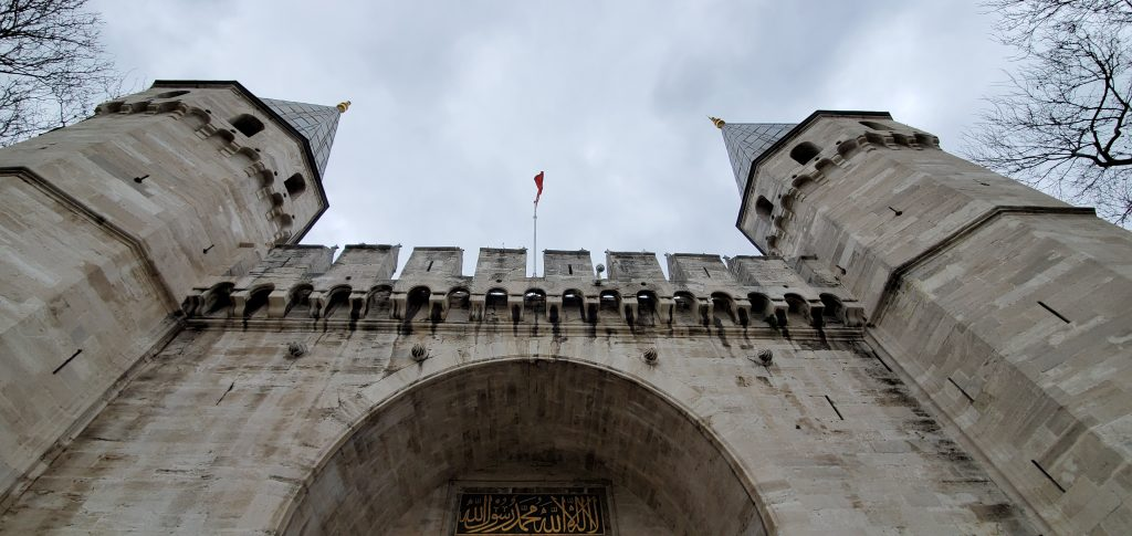 The entrance of the Topkapi Palace in Istanbul