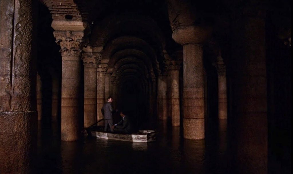 James bond in the Basilica Cistern, Istanbul