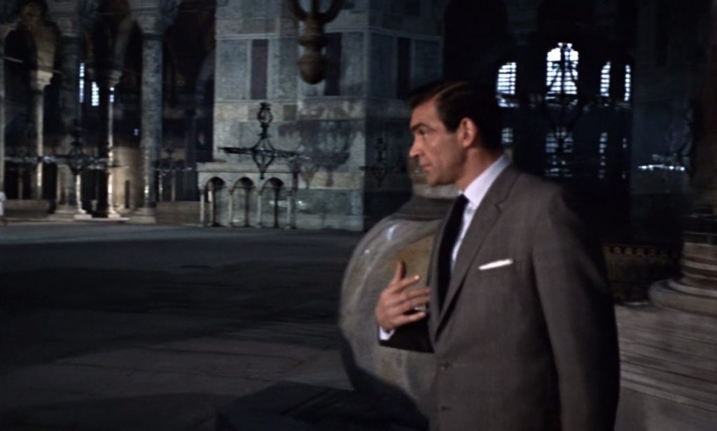 james Bond in the Aya Sophia - Istanbul