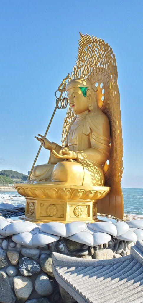 Buddha Statue in Haedong Yonggungsa Temple